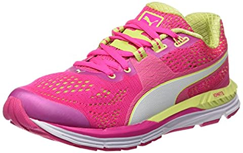Puma Damen Speed 600 Ignite Laufschuhe, Pink-Rose (Pink Glo/Sharp Green/White), 37 EU