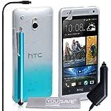 Yousave Accessories Regentropfen, Hartschale, inklusive Eingabestift und Kfz-Ladegerät für HTC One Mini-PARENT