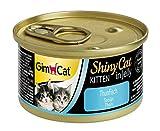 GimCat ShinyCat Kitten , Katzenfutter in Gelee für junge Katzen ab 8 Wochen , 24 Dosen (24 x 70 g)
