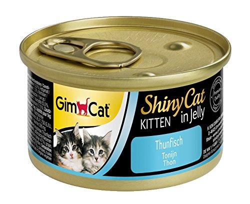 GimCat ShinyCat Kitten, Katzenfutter in Gelee für Junge Katzen ab 8 Wochen, 24 Dosen (24 x 70 g)