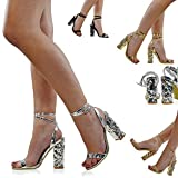 New Womens Ankle Strap Sandals Ladies Block Heel Party Peep Toe Tie Up Shoes Size 3-8
