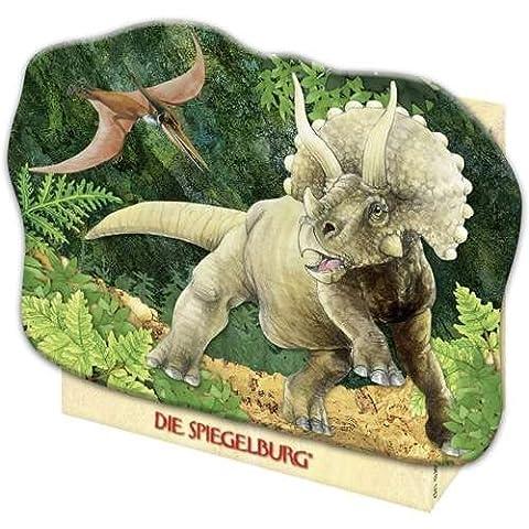 20870 - Die Spiegelburg - Mini-Puzzle: T-Rex World - Triceratops, 40 Teile, 40 Teile