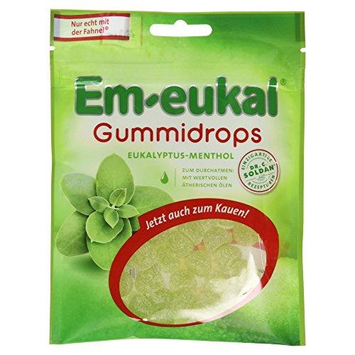 Em-eukal Gummidrops Eukalyptus Menthol zuckerhaltig, 10er Pack (10 x 90 g)