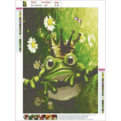 rei 5D stickerei malerei froschkönig muster dekoration home wand bohrmaschine manuelle DIY entsprechende dekompression spiel manuelle kreuzstich ornament ()