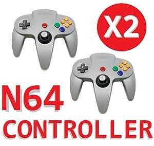 2x Grey Controller For Nintendo 64 N64 Game pad Joystick Analogue JoyPad My-Zone®