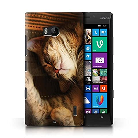 Officiel Elena Dudina Coque / Etui pour Nokia Lumia 930 / Endormi/Tigré Chat Design / Les Animaux Collection