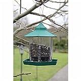 Vogelfutterhaus hängend aus Kunststoff rund