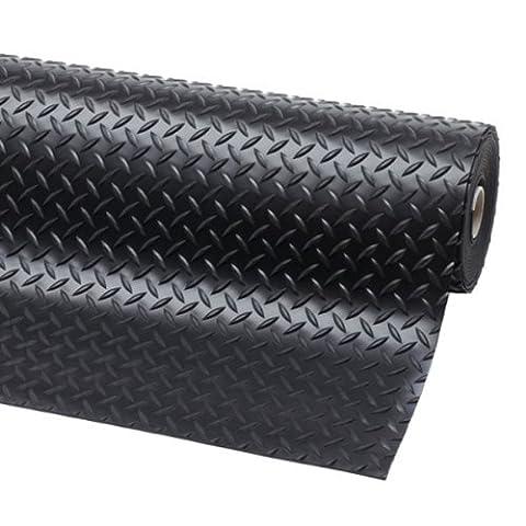 Rubber matting 1m x 1.2m x 3mm single diamond pattern