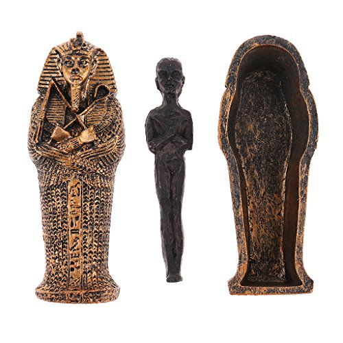 El paquete incluye:      1 pieza Estatuilla de momia egipcia antigua con ataúd        Nota:      Debido a la diferencia entre los diferentes monitores, la imagen puede no reflejar el color real del artículo.  Debido a la medición manual, pued...
