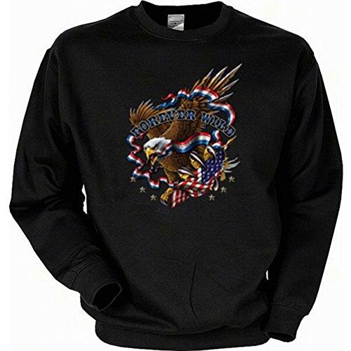 it Flagge - Forever wild - USA Pullover mit Motiv als Geschenk für Amerika Fans (Baseball-geburtstags-einladung)
