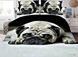 BEDSETAAA Tröster Bettwäsche Sets Reaktiv Druck Rose Blume 3D Bettwäsche Set 3pcs Bettwäsche Und Kissenbezüge Bettbezug Sets 200x200cm Hund