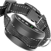 Weijin Vibration anti écorce collier Stop chiens aboiement automatique 7 sensibilité niveaux réglables, bip et vibration, aucun choc, imperméable à l'eau et rechargeables