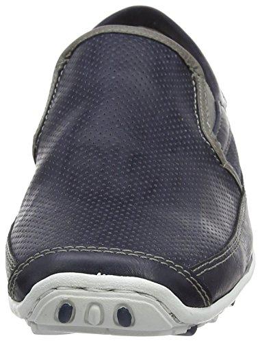 Rieker 08989 Loafers & Mocassins-men Herren Slipper Blau (atlantis/dust/denim / 15)