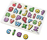 Melissa & Doug 13272 See-Inside Alphabet Wooden Peg Puzzle (26 pcs) (LC) - Multicolor