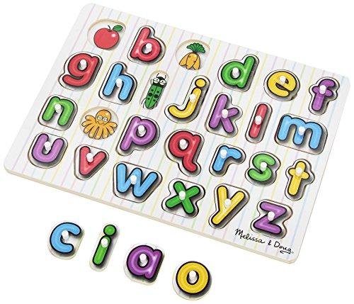 72 - Hölzernes Steck-Puzzle - Alphabet - Englisch (Melissa Und Doug Alphabet-puzzle)