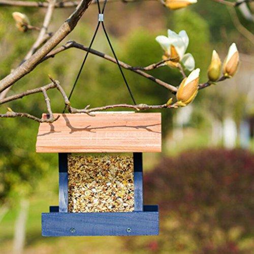 Wild Vogel Schutz Zubringer Hölzern Vogel Haus Draussen Garten Fütterung Und Vogelliebhaber Und Kinder Vogelbeobachtung. Cacoffay