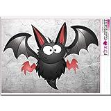 pinkelephant Aufkleber - Halloween - Fledermaus 07 - 25,5 cm x 18 cm (auf A4-Bogen) bat