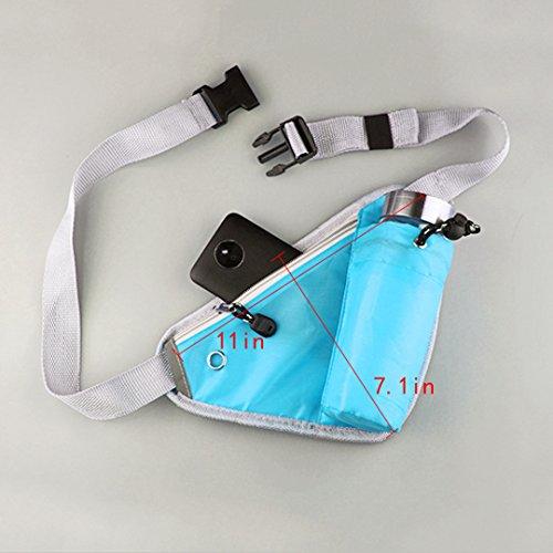 La Haute Taille Taschen Tragbar Fanny Packungen mit Wasser Flaschenhalter Running Radfahren Camping Wandern Bauchtasche Packungen Blau