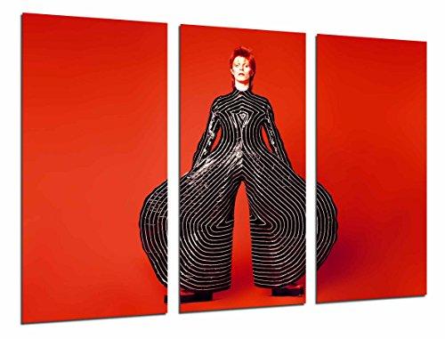 Wandbild - David Bowie, berühmte Hosen, rot, 97 x 62 cm, Holzdruck - XXL Format - Kunstdruck, ref.26852