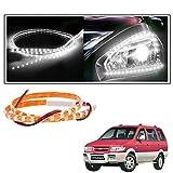 #9: 2 Pc. Vheelocityin 45 cm Waterproof Flexible Tube Strip Car Interior/ Exterior Light - White For Chevrolet Tavera