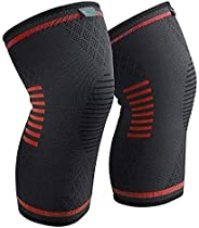 SKEIDO Size M Compression Knee Sleeve, Best Knee Brace Support for Sports, Running, Jogging, BasketBall, Joint