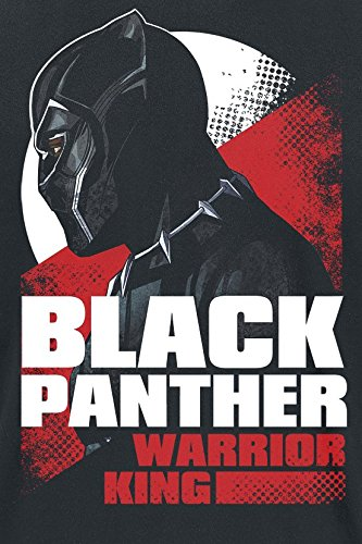 Black Panther Warrior King T-Shirt Schwarz Schwarz