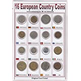 Coins & Stamps Europe 16 Different Counties Includes Old Countries