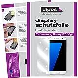 dipos I 2X Schutzfolie klar passend für Samsung Galaxy S7 Edge Folie Displayschutzfolie