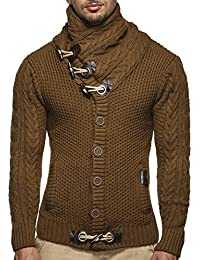 LEIF NELSON Herren Strickjacke Pullover Hoodie Jacke Sweatjacke Sweatshirt Sweater Pulli Winterjacke Freizeitjacke LN4195