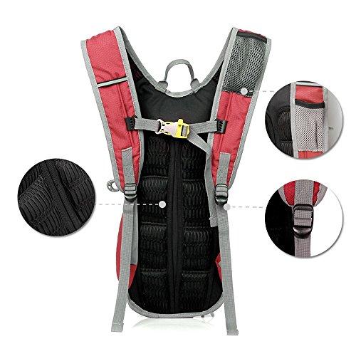 Life-time 12L Frauen und Männer Leichter Wasserdichter Sport-Rucksack für Wandern, Reisen, Radfahren, Jogging, MTB, Klettern Rot