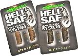 Korda Heli Safe Green - 2 Lead Clips für Helikoptermontage, Einhänger zum Karpfenangeln, Clip für Helicopter Montage auf Karpfen