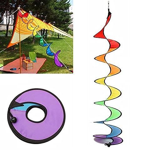 Elistelle Wind Spinner Rainbow Spiral Windmill for Garden & Home Decoration