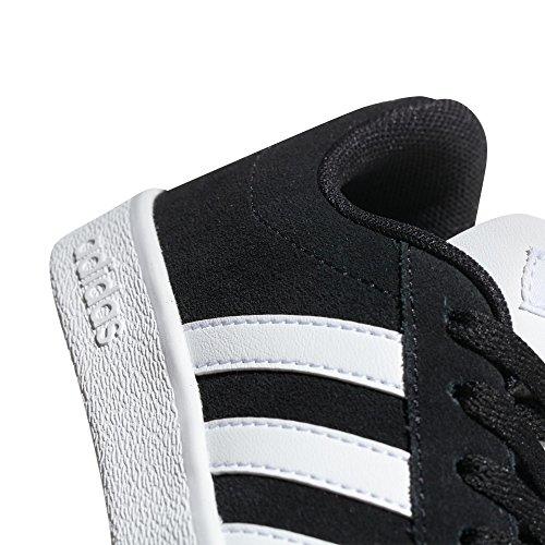 Adidas VL Court 2.0K–Chaussures Sportives, Unisexe Enfant, Noir, (negbas/Ftwbla/negbas) Cblack/Ftwwhit/Cblack
