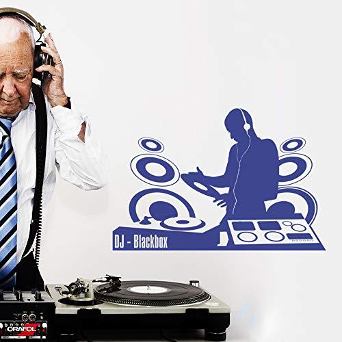 LAVICOM Wandtattoo ~ DJ Pult + Wunschname ~ Pult Disco Party Musik Sound Wandsticker pink