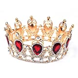 Amazing King/Queen Crown Simulated Red R...