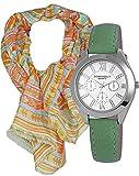 Mädchen Uhr im Geschenk-Set mit Schal. Hochwertige Quartz- Armbanduhr im Chronolook