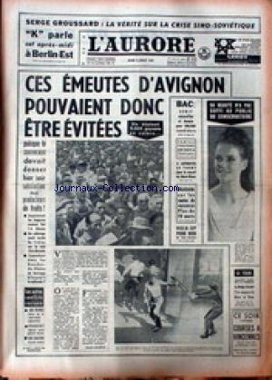 AURORE (L') du 02/07/1963 - LA VERIT...