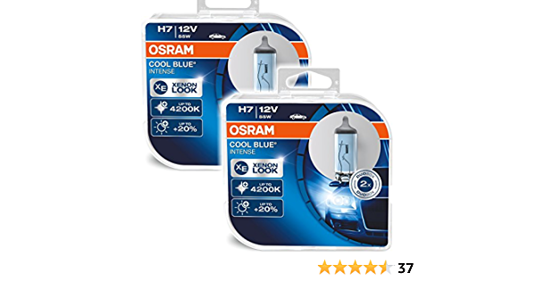 Osram 2x Cool Blue Intense Set H7 55w 12v Xenon Look Blue Auto