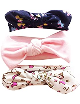 Vellette Fasce Elastico Cerchietti con Fiocco per Capelli Bambine Multicolori Capelli Bimba di Bowknot Elastica...