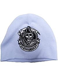 Bonnet Sons of Anarchy avec logo Reaper brodé Bleu clair