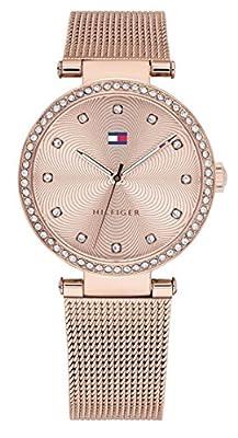 Tommy Hilfiger Reloj Análogo clásico para Mujer de Cuarzo con Correa en Acero Inoxidable 1781865