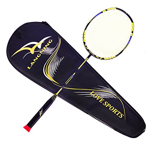 Juego de raqueta de Badminton, de fibra