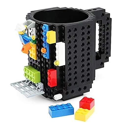 Surenhap Kreative DIY Tasse, Coffee Cup Bausteine Kunststoff 350ML Kaffeetasse mit Einer Packung...