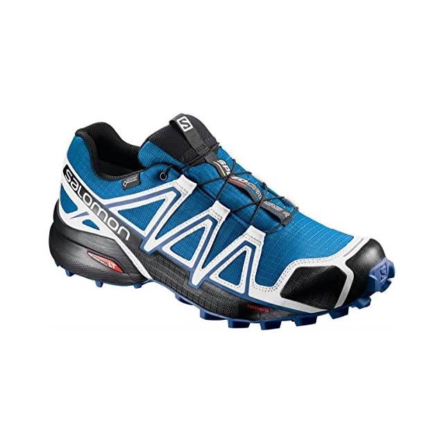 Salomon 4, Speedcross 4 Chaussures de Course à Pied et Randonnée Homme, Bleu (Poseidon/Hawaiian Surf/Fiery Red 000), 42 EU