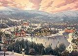 Gibsons Thomas Kinkade Sunset on Snowflake Lane Jigsaw Puzzle, 1000 piece