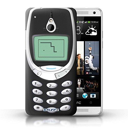 Kobalt® Imprimé Etui / Coque pour HTC One/1 Mini / Nokia 8210 jaune conception / Série Portables rétro Nokia 3310 noir