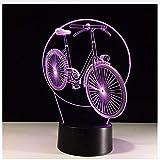 3D Nachtlicht 3D Neuheit Coole Fahrrad Modell Tischlampe Led Nachtlichter Schlafzimmer Kleine Schreibtischlampe Bunte Atmosphäre Lampe