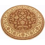 Runder Orient Teppich Ziegler ca. 216 cm Ø Braun - feine Qualität - moderner Teppich - oriental round carpet Zigler best quality