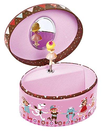 Janod Spielzeug - Spieluhr Schmuckkästchen Minuschka Oval, Mehrfarbig (Woody Kleinkind Kostüme)
