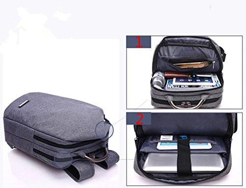 YAAGLE Herren Damen hochwertig Schulranzen business Laptoptaschen einzigartig Rucksack blau